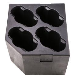 Schaumstoff Case-Einsatz Spikie™ vierfach
