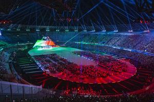 Церемония открытия 30-й Летней универсиады в Неаполе