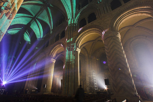 Robe helps illuminate Durham Cathedral for Sting Holiday Special