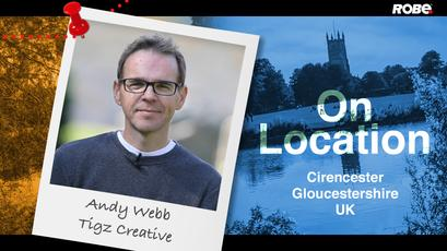 On Location 4 - Andy Webb at the Cirencester Abbey in Gloucestershire